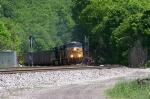 CSX 780 leading empty coal train towards the summit.
