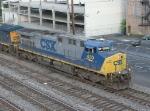 CSX 450 leading NB freight