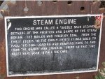 Sign Accompanying Alamo Quarry Tank Locomotive