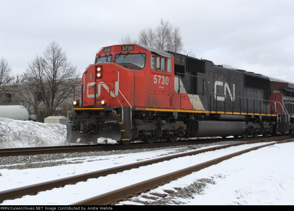 CN 5730 nearing Green Rd.