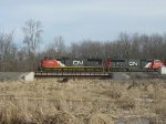 More 5700-series SD75Is cross the thawing marsh