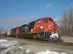 Q116 continues its journey south at Scott St. with CN 8914 on point