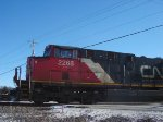 CN 2268 leads an extra A491 across Green Road