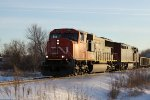 CN 5636 leads M347 north in the waning light