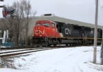 CN 5788 leads M342 southbound approaching Green Rd.