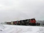 CN 8963 leads a northbound