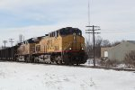 UP 7155 leads C701 coal loads for Pulliam in GB