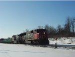 CN 5615 and a GEVO power a northbound manifest not far behind 193
