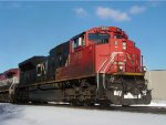 CN 8855 gets the SB unit potash train started after CP 499 crossed the diamonds