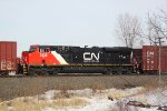 CN 2838 is the mid-train DPU on a southbound that's holding the main
