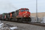 IC 2700 leads SB intermodal Q198 off the siding