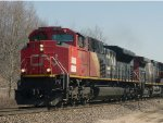 CN 8878 accelerates out of the Ackerville siding with a northbound