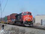 CN 2294 on the head end of a southbound intermodal
