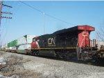 CN 2235 is the mid-train DPU on the SB intermodal