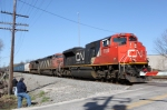 CN 8838 leads a southbound