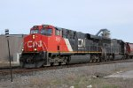 CN 2260 leads another IC SD70 on the last northbound of the day