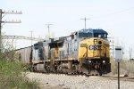 Two CSX GEs haul southbound CN manifest A446