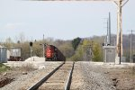 CN 5627 coupled to a rock train in the Vulcan Materials siding