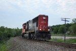 Light engine CN 5764 southbound long-hood forward