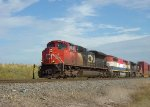 Q193 gets rolling north with two SD70M-2s framing a BC Rail Draper Taper