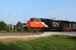 CN 5735 highballs across Weyer Rd. leading M336 SB