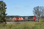 Freshly painted CN 2127 is the 5th unit