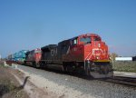 CN 8882 leads a southbound intermodal approaching CP Valley