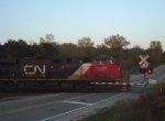 CN 2331 on the County Highway B crossing