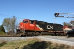 CN 5783 highballs County Rd. M with a southbound
