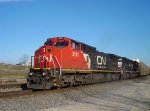 """""""New"""" Dash 8W CN 2171 and an NS motor highball through with a northbound"""