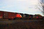 CN 8959 and 2167 do DPU duty on this golden hour southbound