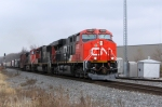 CN 2322 leads SB A446 off the siding