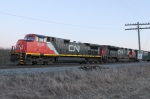 CN 2526 shoves south to reassemble train M335 after their set-out