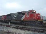 """5408 is only the second of CN's """"new"""" SD60s that I've caught leading a train"""