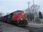 CN 5755 leads the third straight northbound