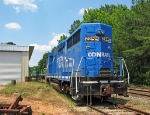 Rear end of the Conrail test dummy