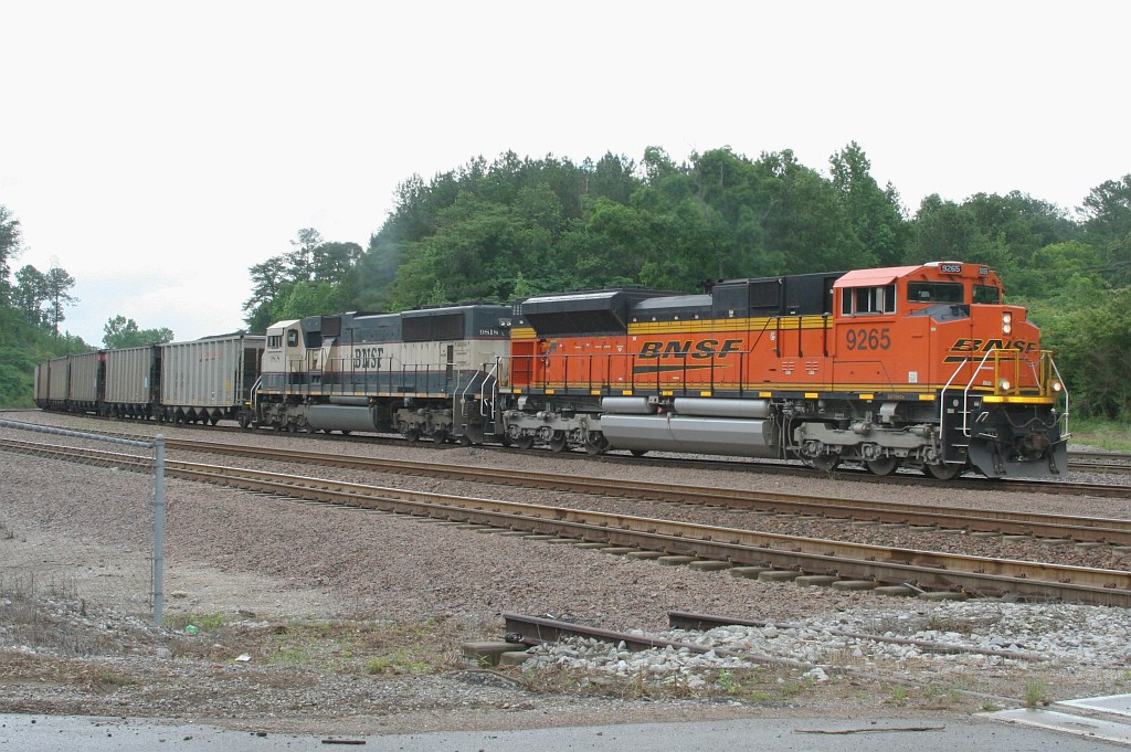 BNSF SB loaded coal train