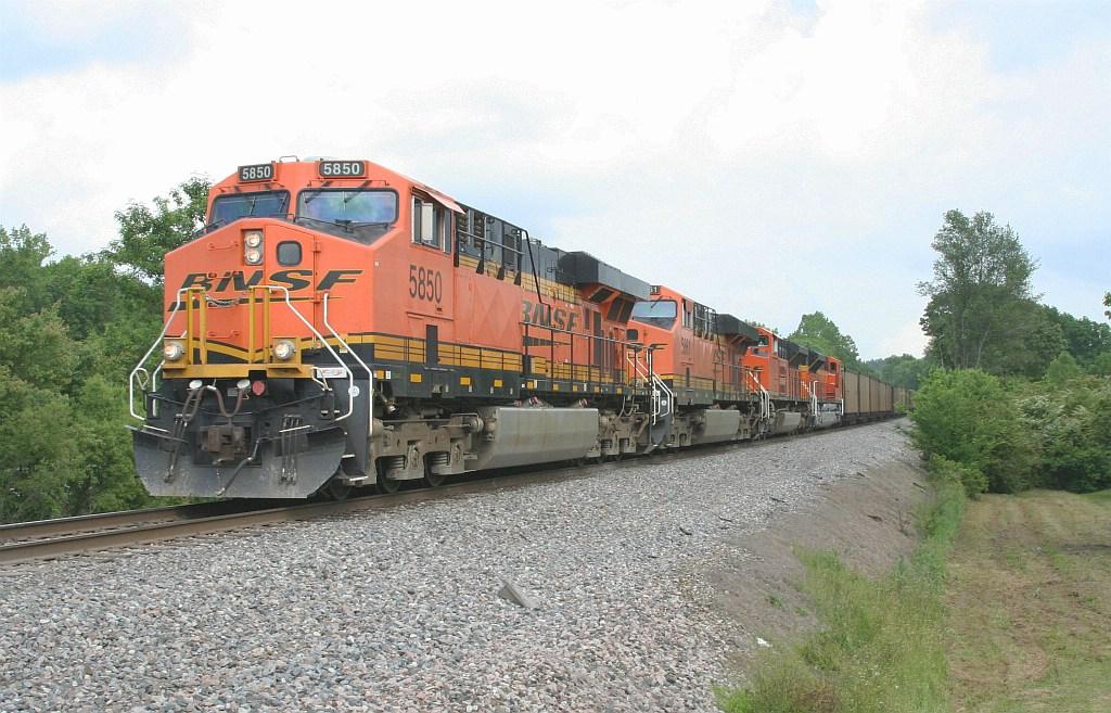 BNSF NB empty coal train