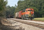 BNSF local heading back to its train