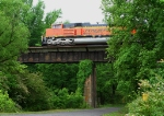 BNSF 9265 leading a SB loaded coal train