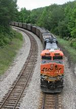 BNSF NB empty coal