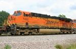 BNSF 7492 on SB intermodal