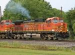 BNSF 4600 leading SB loaded grain train