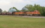 BNSF SB loaded grain train