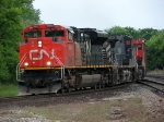 CN 8840 leads 2 other units around the Chicago wye