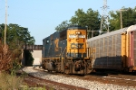 CSX 8771 heads back to the yard after being wyed