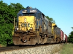 CSX 8519 leads Q327-14 past Rider's Hobby Shop