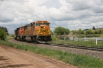 Southbound BNSF coal train passing Palmer Lake on the Joint Line