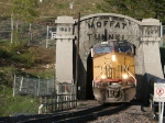 UP train coming out of the west portal of the Moffat Tunnel