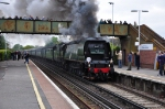 34067 Tangmere at Parkstone on The Royal Wessex excursion